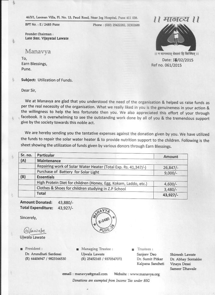 Expenses Report By Manavya